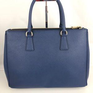 52c6dfb9ecb6 Prada Bags - Prada Italian Galleria Lux Bluette Double Zip Tote